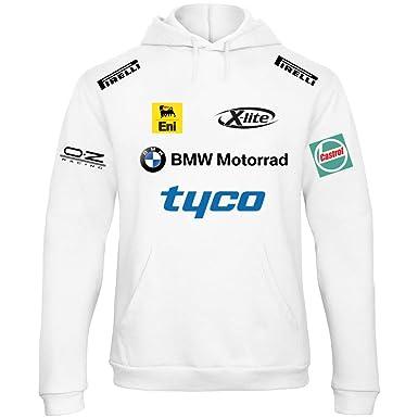 Sudadera con Capucha Deportiva Sweatshirt Hombre BMW MPower Motorrad Team Italia Motorsport Tuning Coche Moto Auto RB07: Amazon.es: Ropa y accesorios