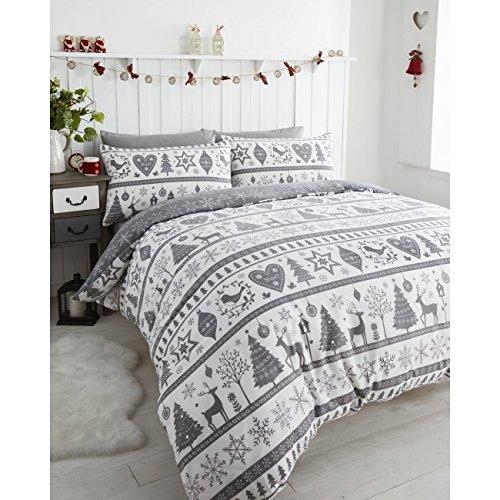 De Cama Noel Reversible Duvet Cover Set, Red, King Bedmaker 12395597