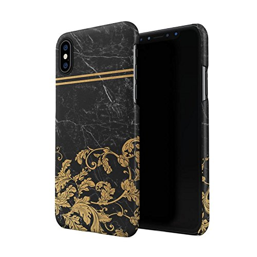 Black Cracked Marble Gold Vintage Ornaments Hard Plastic Phone Case For Iphone X Iphone Xs