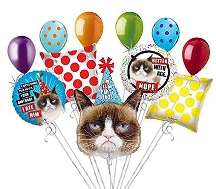 Amazon 11 Pc Grumpy Cat Balloon Bouquet Party Decoration Happy
