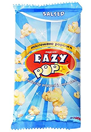 Eazypop - Palomitas saladas - 100 g - Pack de 3 unidades: Amazon ...