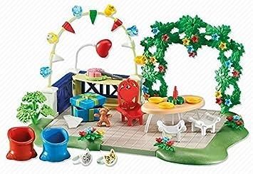 Playmobil 6438 - Jardin avec décoration de fête (emballage en sachet plastique, pas de boite): Amazon.es: Juguetes y juegos