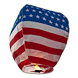 Stars and Stripes Eco WishLantern - 5 Pack - The Original Sky Lanterns