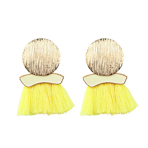 Celendi_ Jewerly Fashion Earrings A Pair Of Tassels Big Earrings Geometric Irregular Round Earrings