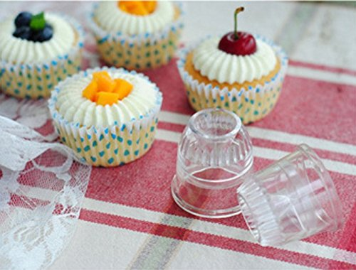 New JJMG Japanese Frosting Decorating Piping Clear tips Set of 2 for Cake, Muffin, Cupcakes, Cookies, Pastry