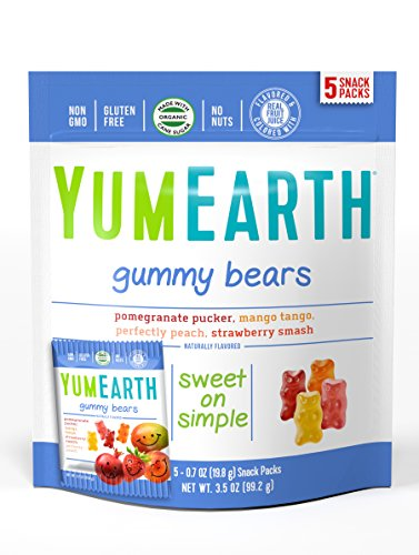 YumEarth Organic gummy Bears, 5 Count ( Packaging May Vary )