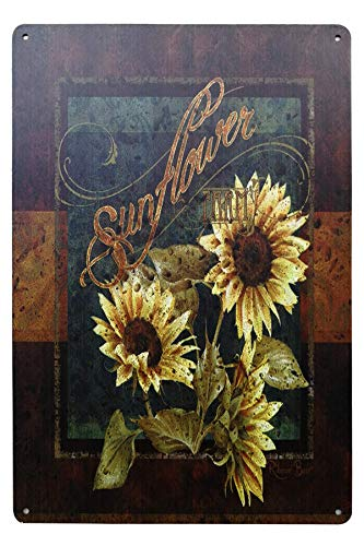 Rustic Sunflower Vintage Metal Tin Sign Indoor Outdoor