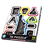 HLJgift IQ Test Toys Mind Game Brain Teaser Metal Wire Puzzles For Kids Adults Set Of 10