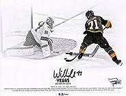 "William Karlsson Vegas Golden Knights Autographed 8"" x 10"" Goal Between Legs Spotlight Photograph -"
