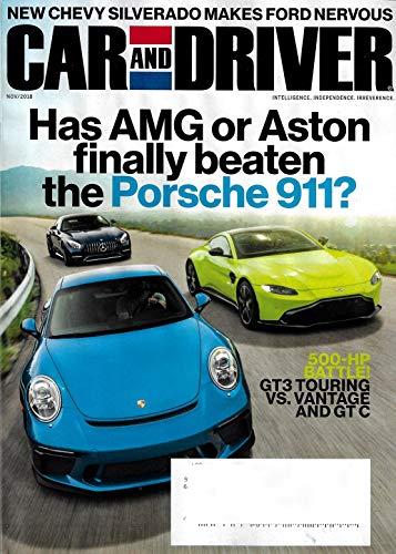 Car And Driver Magazine - CAR AND DRIVER Magazine November 2018 AMG or Aston vs Porsche 911, Chevy Silverado