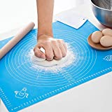 Silicone Pastry Mat with Measurements,Reusable Non-Stick Silicone Baking Mat for Housewife.Non-Stick Pastry Mat for Rolling