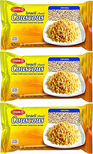 Osem Israeli Pearl Couscous, Original, 8.8 Ounce Box (Pack of 3, Total of 26.4 Oz)