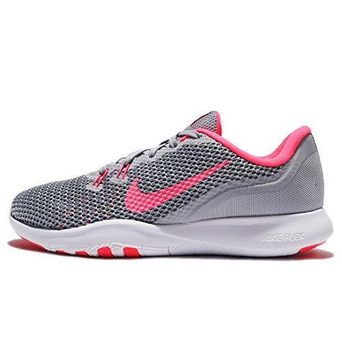 Nike Womens W Flex Trainer 7, WOLF GREY/RACER PINK-STEALTH, 11 US