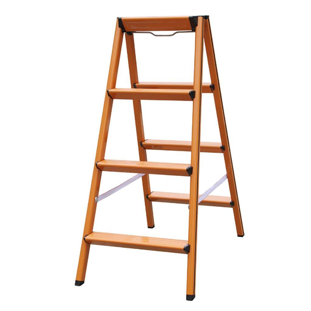 Step stool - 4 Step Household Aluminum Folding Ladder Gold, Thickening Multi-function Storage Step Stool