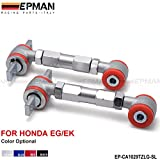 EPMAN New Racing Rear Adjustable Camber Arms Kit For Integra/Civic/CRX/Del Sol (Silver, Pack Of 2)