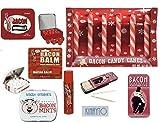 Bacon Candy Gag Bag Gift- 5 piece set, Bacon candy canes, bacon lip balm, bacon gumballs, bacon mints & bacon toothpicks. By Kinayto Enterprises