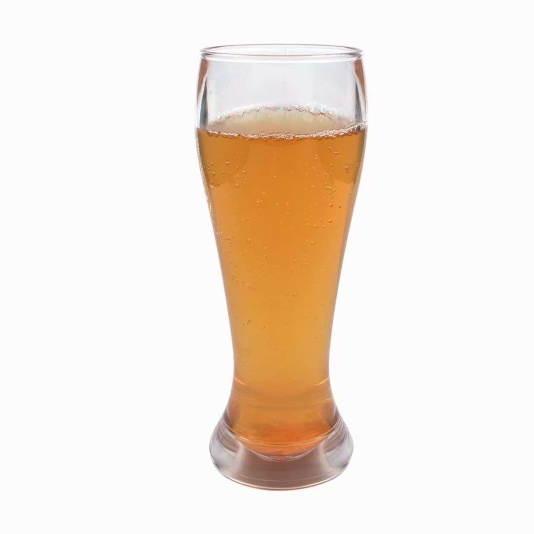 Unbreakable Classic Clear Hard Plastic Pilsner Beer Glasses Large Size 16 oz-Pack of 4