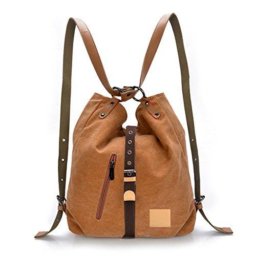 Backpacks Brown Rucksack Totes Hobos Handbag Daypacks Bag Bags Shoulder Canvas Defeng qxTRp0p