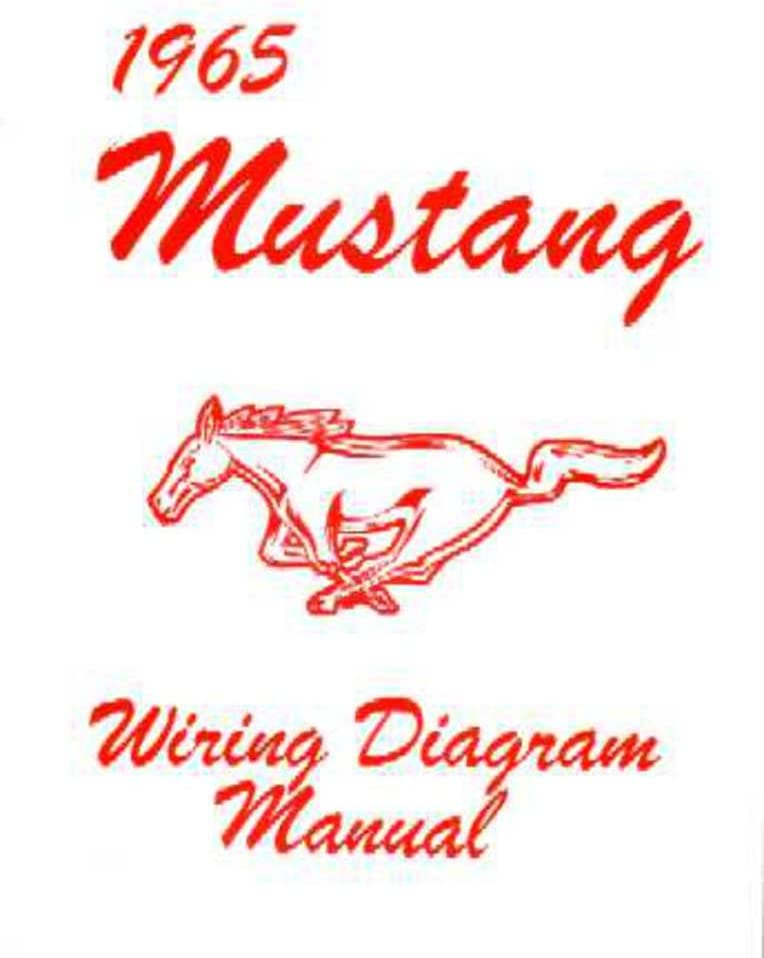 1965 Ford Mustang Electrical Wiring Diagrams Schematics Manual Book Factory OEM