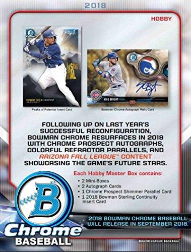 2018 Bowman Chrome Hobby Box (12 Packs/5 Cards: 2 Autographs/Box) ()