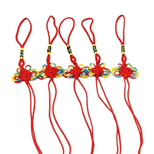 ZLMC [5 pcs]Chinese Knot Tassel For Good luck Activating Romance, Love and Money (Tassels Program)