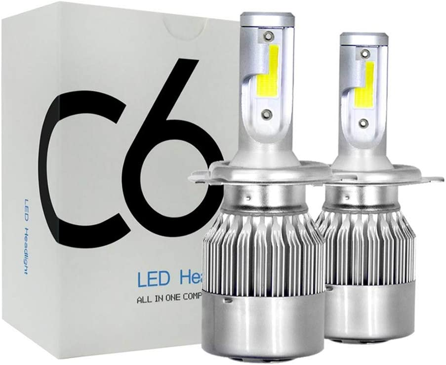 9003 HB2 All-in-One Head-Lamps Conversion Kits 6000K-Waterproof-Extremely Bright 2-Pack H4 Led Headlight Bulbs 72W 7600LM