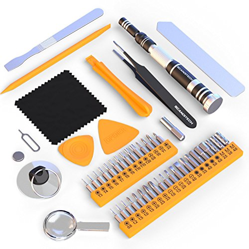 Precision Screwdriver Set - 35 Bit Tool Kit, 9 Tools for iPhone, Samsung, Computer Repair