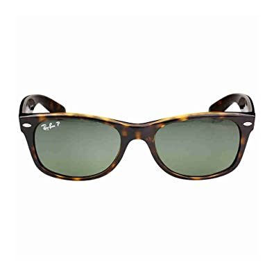 baf39baaa9a Image Unavailable. Image not available for. Color  Ray Ban Wayfarer RB2132  902 58 Tortoise Crystal Green Polarized 52mm Sunglasses