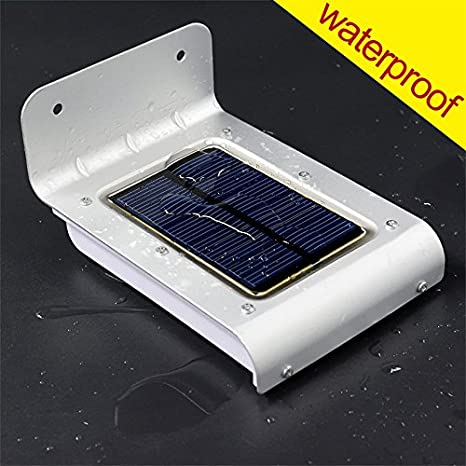 OxyLED Sensor de Movimiento 16 LED Impermeable Solar Powered Brillante al Aire Libre Jardín Patio Path Wall Mount Gutter Valla Luz de Seguridad ...