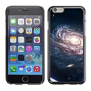 TECHCASE**Cubierta de la caja de protección la piel dura para el ** Apple iPhone 6 Plus 5.5 ** Spiraling Galaxy Purple Planets Bright Light Universe