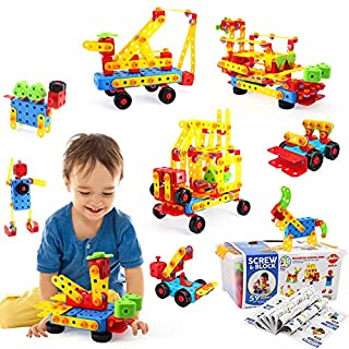 VATOS 316 PCS Stem Building Toys,Building Blocks Toys for Kids,Take Apart Toys,Preschool Educational Block Set, Best Gift for Kids 3-8 Years Old