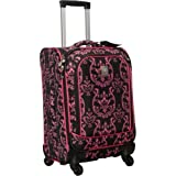 Jenni Chan Pink Damask 360 Quattro 21″ Upright Spinner Carry On (Pink), Bags Central