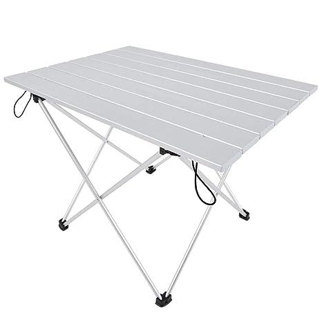 Asixx Mesa Plegable, Mesa de aleación de Aluminio Mesa de ...