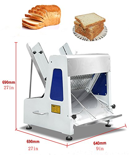 Commercial 110v Heavy Duty Automatic Electric Bread Slicer Machine 0.47' (Item # 020256)