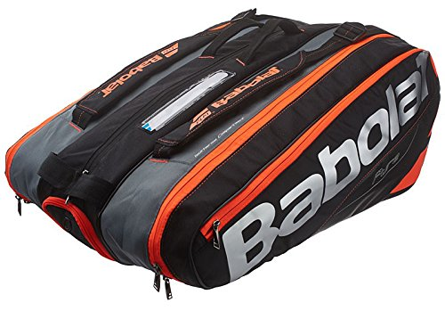Babolat(バボラ) テニス バドミントン ラケットバッグ ピュアライン 12本収納可 BB751133 B01MSBZQPG ブラック×フルオレッド(390) ブラック×フルオレッド(390)