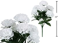 7-stem Carnations with Baby Breath, Artificial Flower (White)
