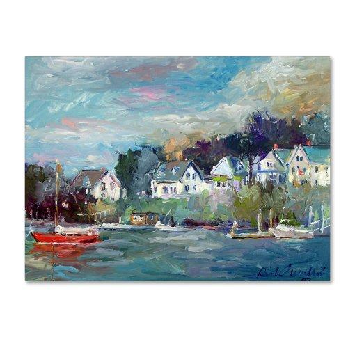 Dock by Richard Wallich, 18x24-Inch Canvas Wall Art (Art Wall Docks Boat)