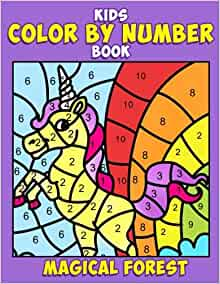 Kids Color By Number Book Magical Forest A Super Cute