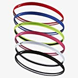 Nike Swoosh Sport Headbands 2.0 (Black/White/Grey), One Size Fits Most
