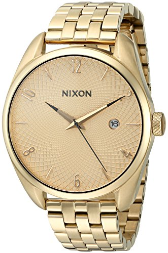 Nixon Women's 'Bullet, All' Quartz Stainless Steel Watch, Color:Gold-Toned (Model: A418-502-00) - Sterling Guilloche