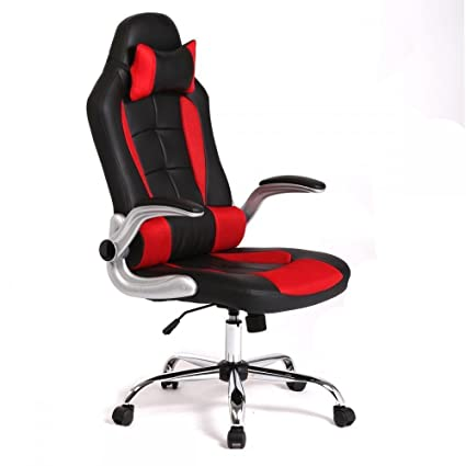 New High Back Race Car Style Bucket Seat Office Desk Chair Gaming Chair (Red )