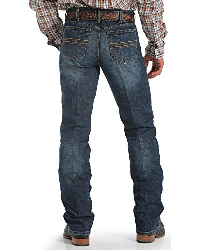 Cinch Men's Silver Label Dark Wash Performance Jeans Dark Stone 32W x 34L (Cinch Mens)