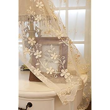 Tiyana beige sheer curtains for living room - Off white curtains for living room ...