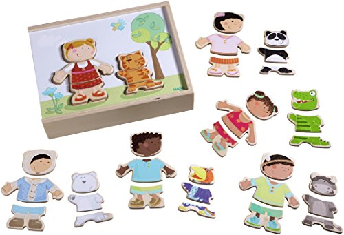 Multi Toys Game (HABA Children of the World - 36 Piece Mix and Match Multi-Cultural Puzzle with Wooden Storage Box)