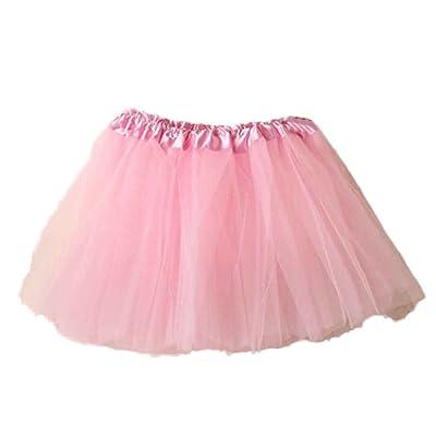 Aobiny Skirt Women Ballet Tutu Layered Organza Lace Mini Skirt