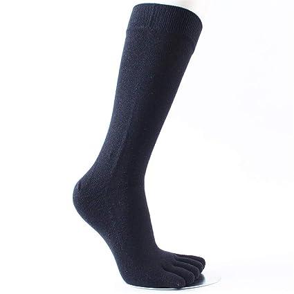 WXMDDN-Calcetines de Cinco Dedos/Tubo Largo de algodón para Hombres. Calcetines de