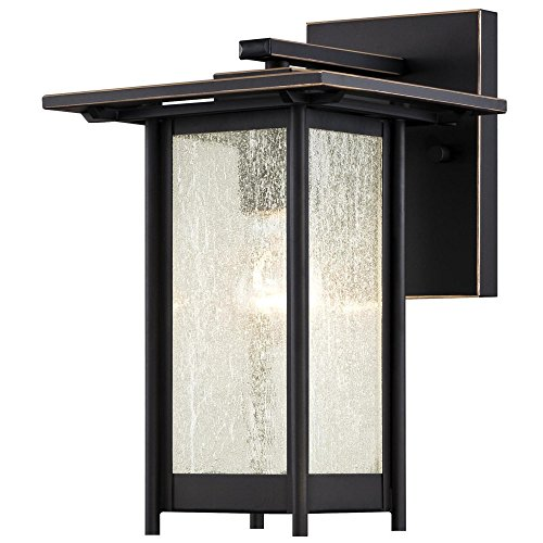 - Westinghouse Lighting 6203900 Clarissa 1 Light Outdoor Wall Lantern, Oil Rubbed Bronze