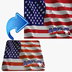 USA God Bless America Mouse Pad