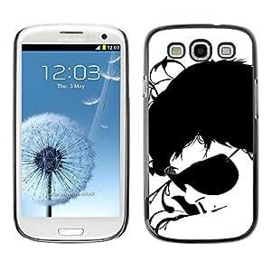 TECHCASE**Cubierta de la caja de protección la piel dura para el ** Samsung Galaxy S3 I9300 ** Sunglasses Black White Art Portrait Man Face