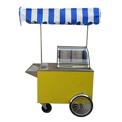 Helado de envío gratuito para triciclo o helado de helado,carrito de helado de gelatina, carrito de comida para aperitivos, carritos de comida para la calle ...